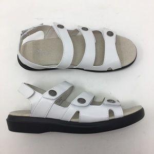 Propet Women 9.5 Bahama White 3 Strap Ankle Sandal
